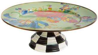 Mackenzie Childs MacKenzie-Childs Flower Market Pedestal Platter, Green