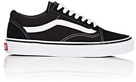 Vans Women's Old Skool Canvas & Suede Sneakers-Black