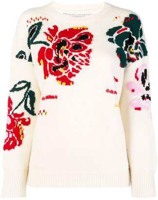 Ermanno Scervino floral intarsia jumper