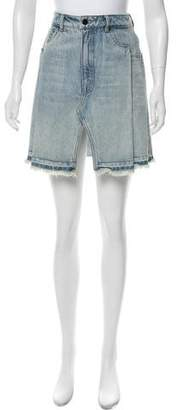 Alexander Wang Denim x Denim Mini Skirt