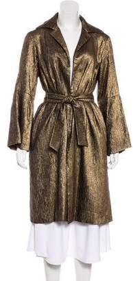 Dries Van Noten Metallic Silk & Wool-Blend Coat