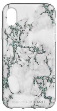 Rebecca Minkoff Black Glitter Marble Case For iPhone XR
