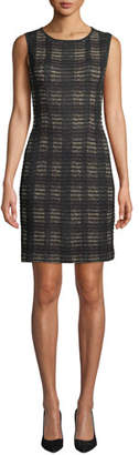 Misook Sleeveless Plaid Knit Dress, Plus Size