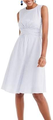 J.Crew Tie Waist Seersucker Dress