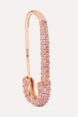 Anita Ko Safety Pin 18-karat Rose Gold Sapphire Earring