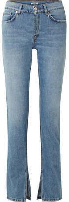 Ganni High-rise Slim-leg Jeans - Light denim