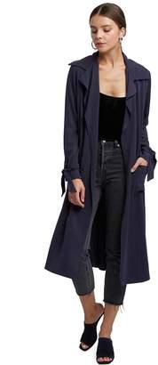 Rachel Pally Belted Trench Coat - Indigo Twill