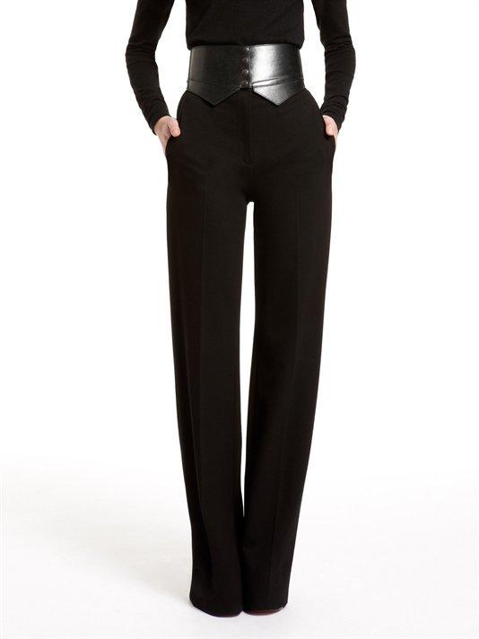 High Waist Flare Leg Trouser With Off Seam Pockets