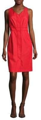 Lafayette 148 New York Farren V-Neck Front Zip Dress