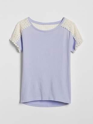 Gap Eyelet Short Sleeve T-Shirt