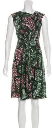 Marni Silk Abstract-Print Dress