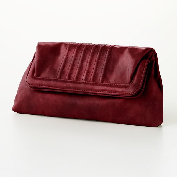 Daisy Fuentes® Faux-Patent-Leather Clutch