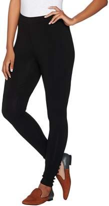 Susan Graver Weekend Stretch Cotton Modal Ankle Leggings w/Button Detail