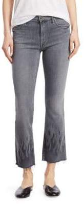 Mother Ankle Fray Flared Jeans