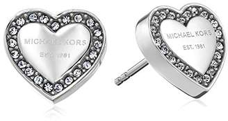 Michael Kors Tone Signature Heart Stud Earrings