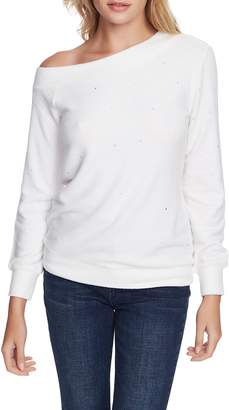 1 STATE 1.STATE Crystal Detail Off the Shoulder Sweater