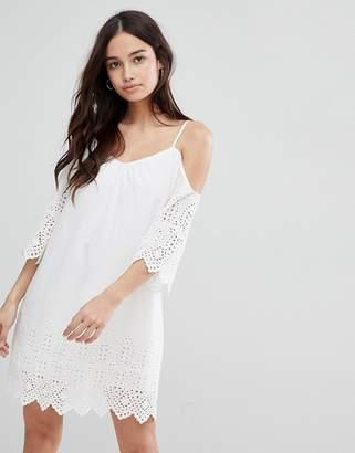 Glamorous Cold Shoulder Broderie Dress