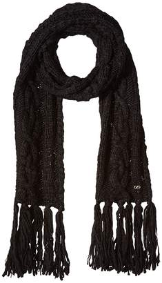 Cole Haan Chunky Cable Muffler with Fringe Scarves