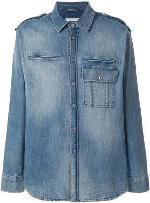 Pierre Balmain denim long-sleeve shirt
