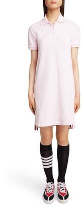 Thom Browne Stripe Pique Polo Dress