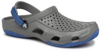 Crocs Men's Swiftwater Deck Clog M Strap Sandals in Grey