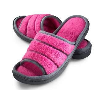 95f92fdc5615 Joan Vass Roxoni Womens open toe terry slippers (Large
