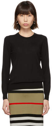 Burberry Black Vintage Check Elbow Patch Bempton Sweater