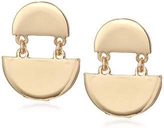 Women's Double Metal Disc Earrings
