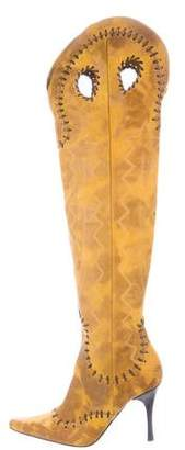Donald J Pliner Leather Over-The-Knee Boots