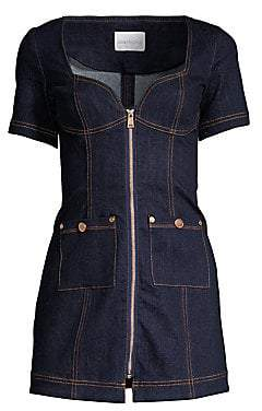 Alice McCall Women's Denim Zip-Up Mini Dress - Size 0