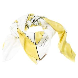 Burberry Yellow Silk Scarves