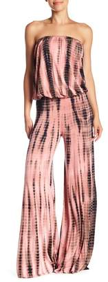 Young Fabulous & Broke YFB by Sydney Strapless Tie-Dye Jumpsuit