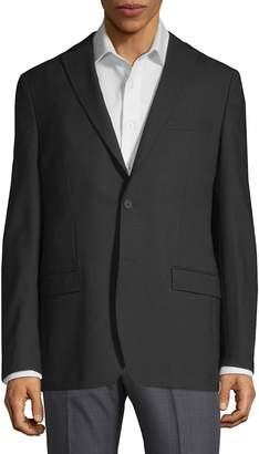 DKNY Men's Tonal Mini Check Wool Blazer
