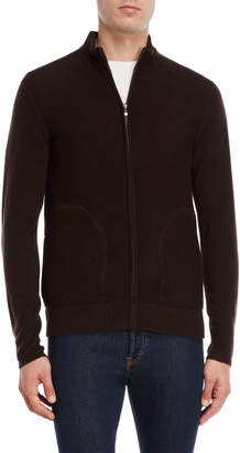 Qi Wool-Cashmere Blend Zip Sweater