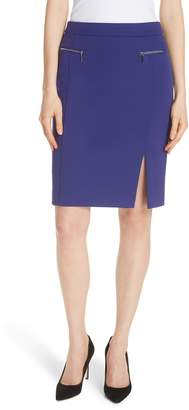 BOSS Veboa Twill Jersey Suit Skirt