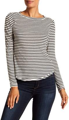 Rebecca Taylor Long Sleeve Striped Jersey Tee