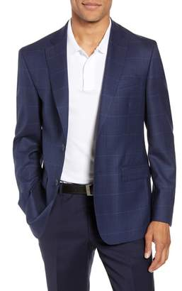 John W. Nordstrom R) Traditional Fit Windowpane Wool Sport Coat