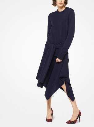 Michael Kors Cashmere Sleeve-Tie Pullover