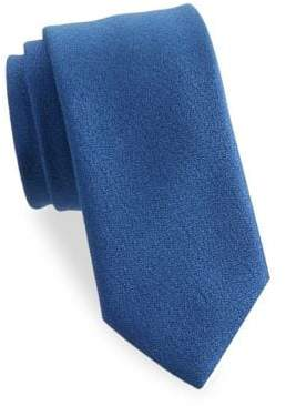 Charvet Men's Textured Wool Tie - Blue
