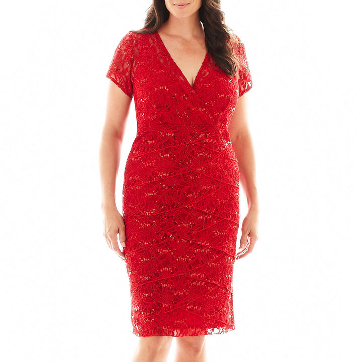 JCPenney Scarlett Short-Sleeve Lace Dress