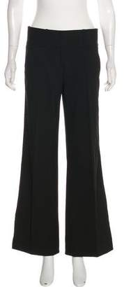 Robert Rodriguez Lace-Accented Mid-Rise Wide-Leg Pants