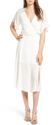 Women's Leith Surplice Midi Dress $75 thestylecure.com