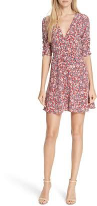 Nicholas Red Blossom Silk Minidress