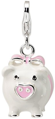 Amore La Vita Sterling Dimensional Pig Charm