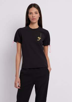 Emporio Armani Chinese New Year T-Shirt In Stretch Modal Cotton Jersey