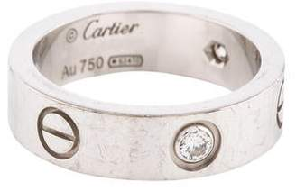 Cartier 3 Diamond LOVE Ring