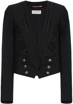 Saint Laurent Embroidered Spencer Jacket
