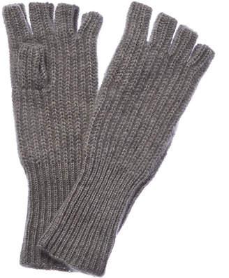 White + Warren Grey Heather Cashmere Fingerless Gloves