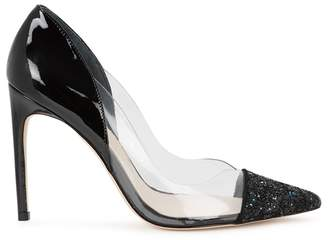Sophia Webster Daria 100 Glittered Patent Leather Pumps
