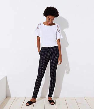LOFT Petite Skinny Polka Dot Ankle Pants in Marisa Fit